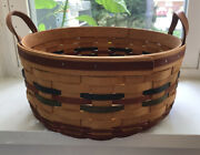 Collectible Longaberger Baskets Shades Of Autumn Basket And Liner 1995 Large 11+andrdquo
