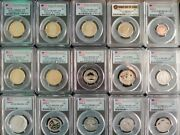 Mixed Lot Of 15 Pcgs First Strike 1st 30 Days Of Initial Release