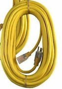 12/3 125v 15 Amp 3 Wire Grounded Sjtw Lighted 50and039 Extension Cord Made In Usa
