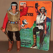 Vintage 70and039s Gabriel/marx The Lone Ranger Red Sleeves Apache Action Figure Mib