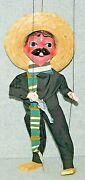 Vintage Pancho Villa Mexican Bandit Stringed Marionette Puppet. Great Condition