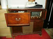 1950and039s Delco Console Stereo Record Player. Very Rare.andnbsplarge Heavy Cabinet. L@@k