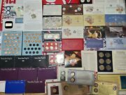 Huge Lot Of Mixed Coin Collection Estate, Proof And Mint Sets Uncirculated