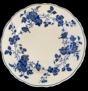 Royal Meissen Fine China Plate Bread Salad Blue Floral Japan 6 1/2 Replacements