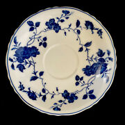 Royal Meissen Fine China Saucer Blue Floral Japan 6 Replacements