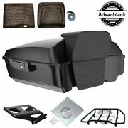 Black Pearl Chopped Tour Pack Trunk Luggage Liner For Harley Touring 1997-2020