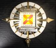 Vintage 1960's Lucky Lager Beer Fiber Motion Beer Sign Breweriana Way Rare Works