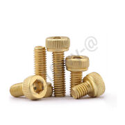 M2 M2.5 M3 Allen Brass Screw Bolt Hexagon Socket Screws Knurled Cap Head Bolts