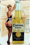 Corona Extra Vintage Beer Advertising Pin Up Poster