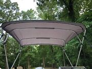 Complete Bimini Top Kitframe+canvas+hardware10and039l X 8and039w Grey Lifetime Warranty