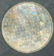 1889-p Morgan Silver Dollar Naturally Color Toned And In High Ms Condition