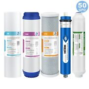 5 Stage Reverse Osmosis System Water Filter With 50gpd Ro Membrane 5-pack Set Us