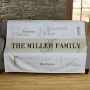 Personalized Family Name Sweatshirt Blanket W/ Monogram And Up To 6 Names 5' Long