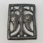 Mma Sterling Silver Ancient Falcon Brooch Pin Vintage Egyptian Revival 1980s