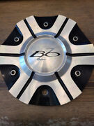 Bzo Black And Chrome Finish Center Cap No Part Number 8 1/8and039and039 Diameter