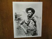 Jimmy Ellison Died-1993hopalong Cassidysigned 8 X 10 Black And White Photo
