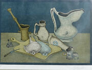 Mihail Chemiakin – Lithograph S/n - Still Life With Fish And Knife