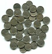 Buffalo Nickel Roll 1920-1930 Full 40 Pieces Good And Better Nice Original Coins