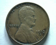 1910-s Lincoln Cent Penny Extra Fine Xf Extremely Fine Ef Nice Original Coin