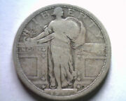 1917 Type 1 Standing Liberty Quarter Fine F Nice Original Coin From Bobs Coins