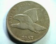 1857 Type 1856 S2 Flying Eagle Cent Penny Extra Fine+ Xf+ Extremely Fine+ Ef+