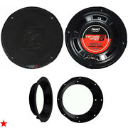 Cerwin Vega 6.5 Inch Car Motorcycle Speakers For Harley Davidson W Adapter Kit 2