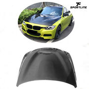 Front Engine Hood Lid Cover For Bmw 3 4series F30 F32 F33 F36 14-19 Carbon Fiber
