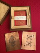 Intaglio - 1 Of 2 Red And Gold Gallery Edition Playing Cards By Kings Wild Project