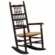 Lovely Antique Elm Victorian William Morris Sussex Chair Style Rocking Armchair