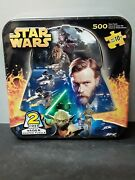 Star Wars Darth Vader Shaped Puzzle 2 Sided 500 Pieces In Tin 22x22 New Sealed