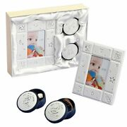 Baby Gift Set 3 Piece First Tooth First Curl Boxes With Photo Frame Keepsake Set