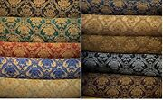 Fabric Sold By Yard Upholstery Drapery Chenille Classic Damask Design 60 Wide