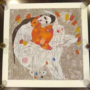 Tie Feng Jiang Mother And Child Limited Serigraph Print Signed And Numbered /6