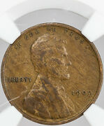1909 Vdb Lincoln Wheat Cent Penny Ngc Genuine Stack's W 57th St Collection Mr