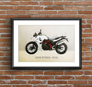 Bmw F700gs - 2016 Art Sketch Poster [without Frame]