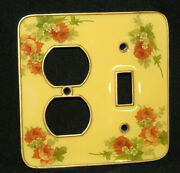 Flowers Heavy Brass Light Switch Outlet Cover Toggle Wall Plates