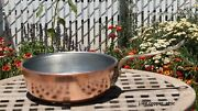 Ruffoni Hammered Copper 3 Qt. Saute Pan W/ Tin And Acorn Accent, Made In Italy