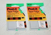 Post It Tape Flags 680-8, Green Office Supply, New Lot Of 12, Bookmark, School