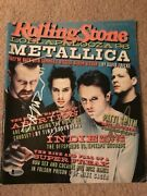 Rare Metallica Signed Rolling Stone By 4 Autographed Auto Bas Not Psa Hetfield