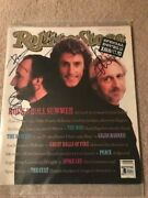 Rare The Who Signed Rolling Stone By 3 Autographed Auto Bas Not Psa Townshend
