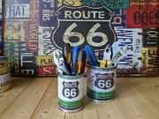 Replica Route 66 Vintage Motor Oil Tin Cans Retro Petrol Man Cave Gift Him