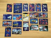 20 Lego Technic Manuals - From Multiple Sets As Shown In The Pictures