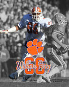 Clemson Tigers William Perry Unsigned Spotlight Photo 8x10 1981 Natl Champ