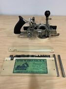Vtg Stanley Rule And Level.co No.45 Combination Plane Beading Rabbet Plane