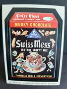 Vintage Topps Wacky Packages Series 2 108 Swiss Mess Sticker Card 1979