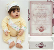 Phyllis Parkins Cuddle Bugs 18 Baby Doll Yellow Romper Brown Hair Blue Eyes New