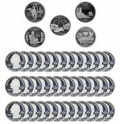 2003 S State Quarter Proof Roll Gem Deep Cameo 90 Silver 40 Us Coins