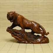 Chinese Natural Boxwood Hand Carved Tiger Statues 80231