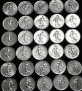 30x One Franc Coins Of France 1950s Thru 1970s All In Great Details A45-290