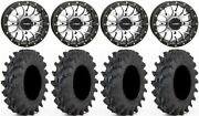 System 3 St-3 Machined 14 Wheels 28 Outback Max Tires Honda Rincon Rancher